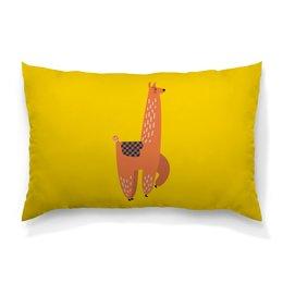 """Подушка 60х40 с полной запечаткой """"альпака"""" - животные, пустыня, мульт, верблюд, альпака"""