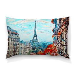 """Подушка 60х40 с полной запечаткой """"Париж"""" - город, краски, природа, париж, эйфелева башня"""