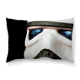 "Подушка 60х40 с полной запечаткой ""Stormtrooper"" - штурмовик, stormtrooper, star wars, взгляд, sw"
