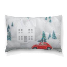"""Подушка 60х40 с полной запечаткой """"Рождество"""" - новый год, зима, снег, рождество, volkswagen"""