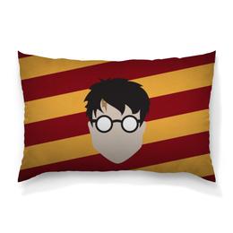 """Подушка 60х40 с полной запечаткой """"Гарри Поттер"""" - очки, harry potter, гарри поттер, минимализм, шрам"""