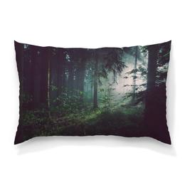 """Подушка 60х40 с полной запечаткой """"Природа леса"""" - лес, деревья, природа, пейзаж, трава"""