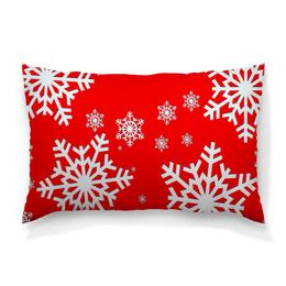 """Подушка 60х40 с полной запечаткой """"Снежинки"""" - новый год, узор, зима, снег, снежинки"""