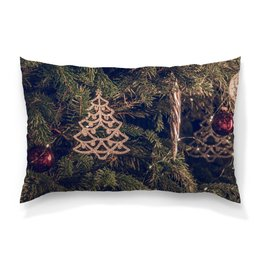 """Подушка 60х40 с полной запечаткой """"Новый год"""" - праздник, новый год, веселье, елка, елочные шары"""