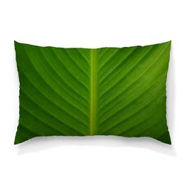"""Подушка 60х40 с полной запечаткой """"Большой лист"""" - фото, зелёный, листья, релакс, симметрия"""