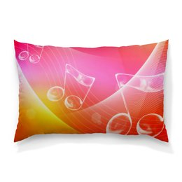 """Подушка 60х40 с полной запечаткой """"Музыка"""" - музыка, узор, ноты, мелодия, звуковая волна"""