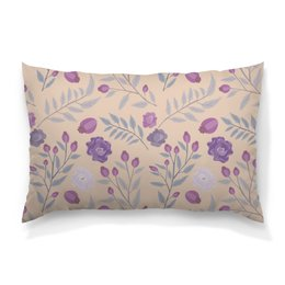 """Подушка 60х40 с полной запечаткой """"цветы"""" - лето, цветы, узор, природа, цветочки"""