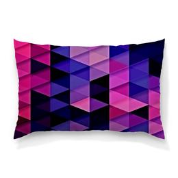 """Подушка 60х40 с полной запечаткой """"цветпарад"""" - абстракция, цветные, геометрия, abstraction, треугольники"""