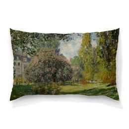 "Подушка 60х40 с полной запечаткой ""Парк Монсо (Клод Моне)"" - картина, импрессионизм, природа, живопись, моне"