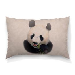 """Подушка 60х40 с полной запечаткой """"Панда"""" - животные, медведь, панда, китай, бамбук"""