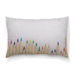 """Подушка 60х40 с полной запечаткой """"Карандаши"""" - рисунок, осень, карандаши, цветные карандаши, рисунок карандашами"""