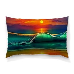"""Подушка 60х40 с полной запечаткой """"Закат"""" - песок, природа, пейзаж, море, закат"""