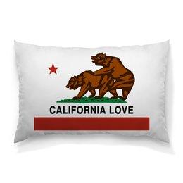 """Подушка 60х40 с полной запечаткой """"California love"""" - sex, медведь, california, калифорния, сек"""