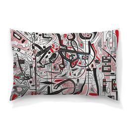 """Подушка 60х40 с полной запечаткой """"Mamewax"""" - арт, узор, абстракция, фигуры, медитация"""
