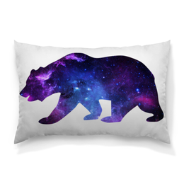 """Подушка 60х40 с полной запечаткой """"Space animals"""" - space, bear, медведь, космос, астрономия"""