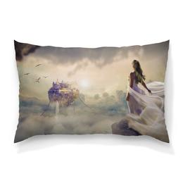 """Подушка 60х40 с полной запечаткой """"Мечты"""" - мечты, красота, принцесса, нежность, замок"""
