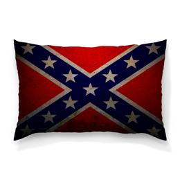 "Подушка 60х40 с полной запечаткой ""Флаг Конфедерации США"" - война, америка, флаг, сша, флаг конфедерации"