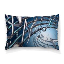 """Подушка 60х40 с полной запечаткой """"Музыка"""" - музыка, ноты, мелодия, струны, звуковая волна"""