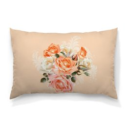 """Подушка 60х40 с полной запечаткой """"Чайная роза"""" - цветы, розы"""