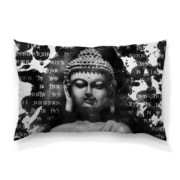 """Подушка 60х40 с полной запечаткой """"Будда (Письмена)"""" - философия, религия, buddha, будда, духовность"""
