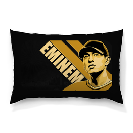 "Подушка 60х40 с полной запечаткой ""Eminem"" - usa, rap god, lose yourself, фристайл, 8миля"