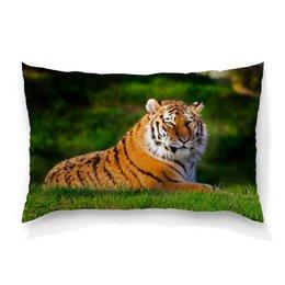 """Подушка 60х40 с полной запечаткой """"Красивый тигр"""" - тигр, фотография, животное"""