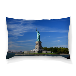 """Подушка 60х40 с полной запечаткой """"Статуя Свободы"""" - нью-йорк, америка, статуя свободы"""