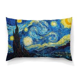 """Подушка 60х40 с полной запечаткой """"Звёздная ночь - Ван Гог"""" - романтика, ночь, художник, ван гог, звёды"""