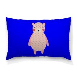 """Подушка 60х40 с полной запечаткой """"медведь"""" - животные, медведь, мишка, мульт, медвежонок"""