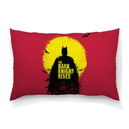 "Подушка 60х40 с полной запечаткой ""Тёмный рыцарь"" - batman, бэтмен, the dark knight rises, dark knight, тёмный рыцарь"