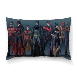 "Подушка 60х40 с полной запечаткой ""Batman / Бэтмен"" - batman, batwoman, dc comics, robin, redhood"