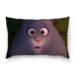 """Подушка 60х40 с полной запечаткой """"Тайная жизнь домашних животных """" - кошка, животные, мультфильм, тайная жизнь домашних животных"""