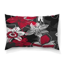 """Подушка 60х40 с полной запечаткой """"Цветочный узор"""" - гранж, арт, цветы, цветок, цветочный"""