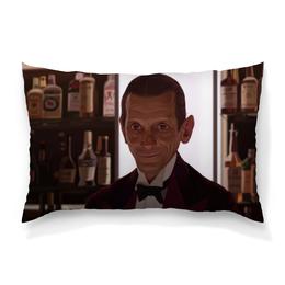 "Подушка 60х40 с полной запечаткой ""Бармен Ллойд"" - сияние, the shining, бармен ллойд, lloyd the bartender, joe turkel"