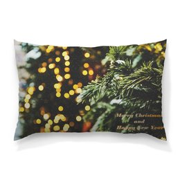 """Подушка 60х40 с полной запечаткой """"Новый год"""" - праздник, новый год, елка, снег на ветках"""