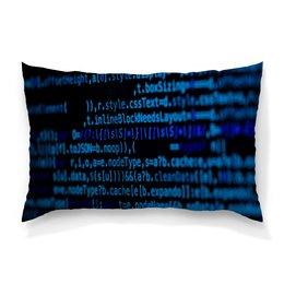 """Подушка 60х40 с полной запечаткой """"Программа"""" - компьютеры, код, программа, пароль, кодировка"""