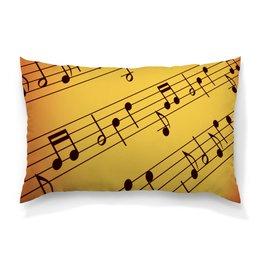 """Подушка 60х40 с полной запечаткой """"Мелодия"""" - музыка, ноты, мелодия, струны, звуковая волна"""
