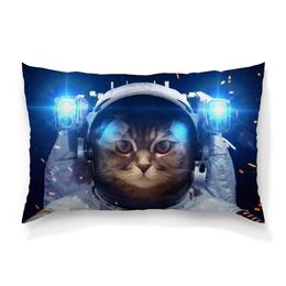 """Подушка 60х40 с полной запечаткой """"Котосмонавт"""" - кот, космос, животное, костюм"""