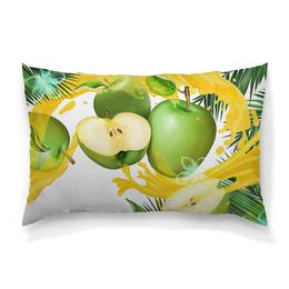 """Подушка 60х40 с полной запечаткой """"Яблоки"""" - фрукты, рисунок, яблоки"""