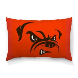 """Подушка 60х40 с полной запечаткой """"Бульдог"""" - юмор, рисунок, бульдог, злая собака"""