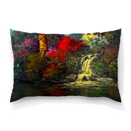 "Подушка 60х40 с полной запечаткой ""Водопад"" - картина, краски, природа, пейзаж, водопад"
