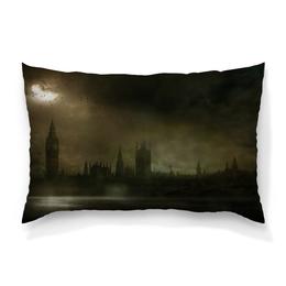 "Подушка 60х40 с полной запечаткой ""Лондон"" - london, лондон, биг бен, темза, the testament of sherlock holmes"