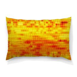 """Подушка 60х40 с полной запечаткой """"Текстура"""" - полосы, желтый, краски, текстура, линии"""