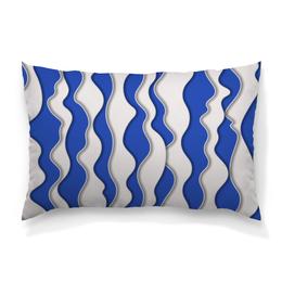 """Подушка 60х40 с полной запечаткой """"Абстрактные волны"""" - абстрактный, узор, рисунок, стиль, волны"""