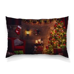 """Подушка 60х40 с полной запечаткой """"Рождество"""" - новый год, рождество, гирлянда, ёлка, декор"""