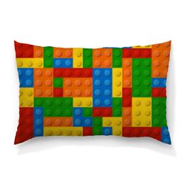"""Подушка 60х40 с полной запечаткой """"Конструктор Лего"""" - рисунок, детский, игрушка, конструктор, лего"""