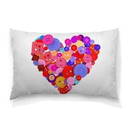 """Подушка 60х40 с полной запечаткой """"День всех влюбленных"""" - любовь, день святого валентина, валентинка, i love you, день влюбленных"""