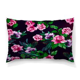 """Подушка 60х40 с полной запечаткой """"Розы в цвету"""" - цветы, весна, сад, розы, букет"""