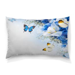 """Подушка 60х40 с полной запечаткой """"Весна"""" - бабочки, цветы, весна, природа, насекомые"""