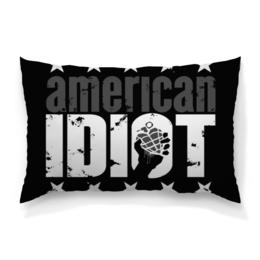 """Подушка 60х40 с полной запечаткой """"Америка"""" - сердце, звезды, америка, надписи, буквы"""
